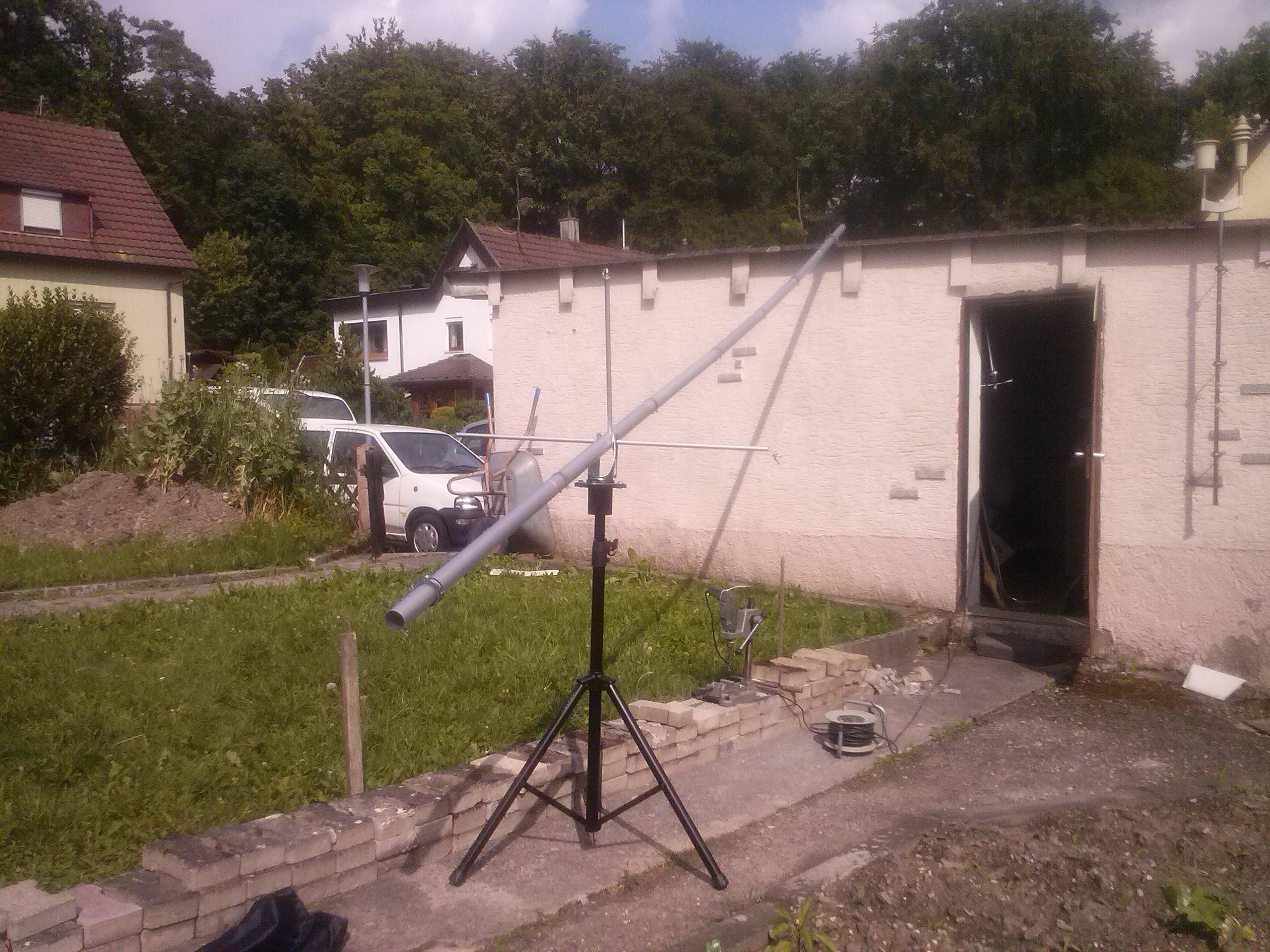 Kamerakran im Aufbau